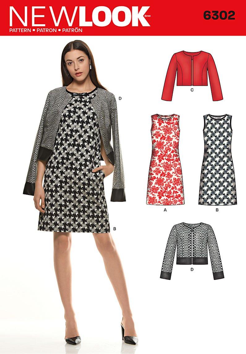 Famoso New Look - Cartamodello 6000 abiti donna, taglie 36/38/40/42/44/46  RO43