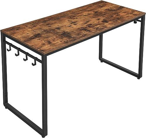 VASAGLE ULWD59X Home Office Desks, Rustic Brown Black