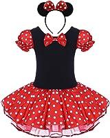 IBTOM CASTLE Toddler Girl Polka Dots Party Fancy Costume Tutu Dress up Dance Leotard Gymnastic Cosplay w/Mouse Ear Headband
