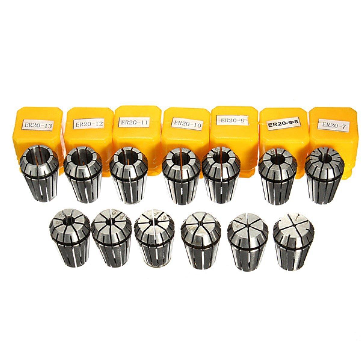 SODIAL ER20 pinza R 13 PC ER20 pinzas fijado para el fresado CNC herramienta de grabado