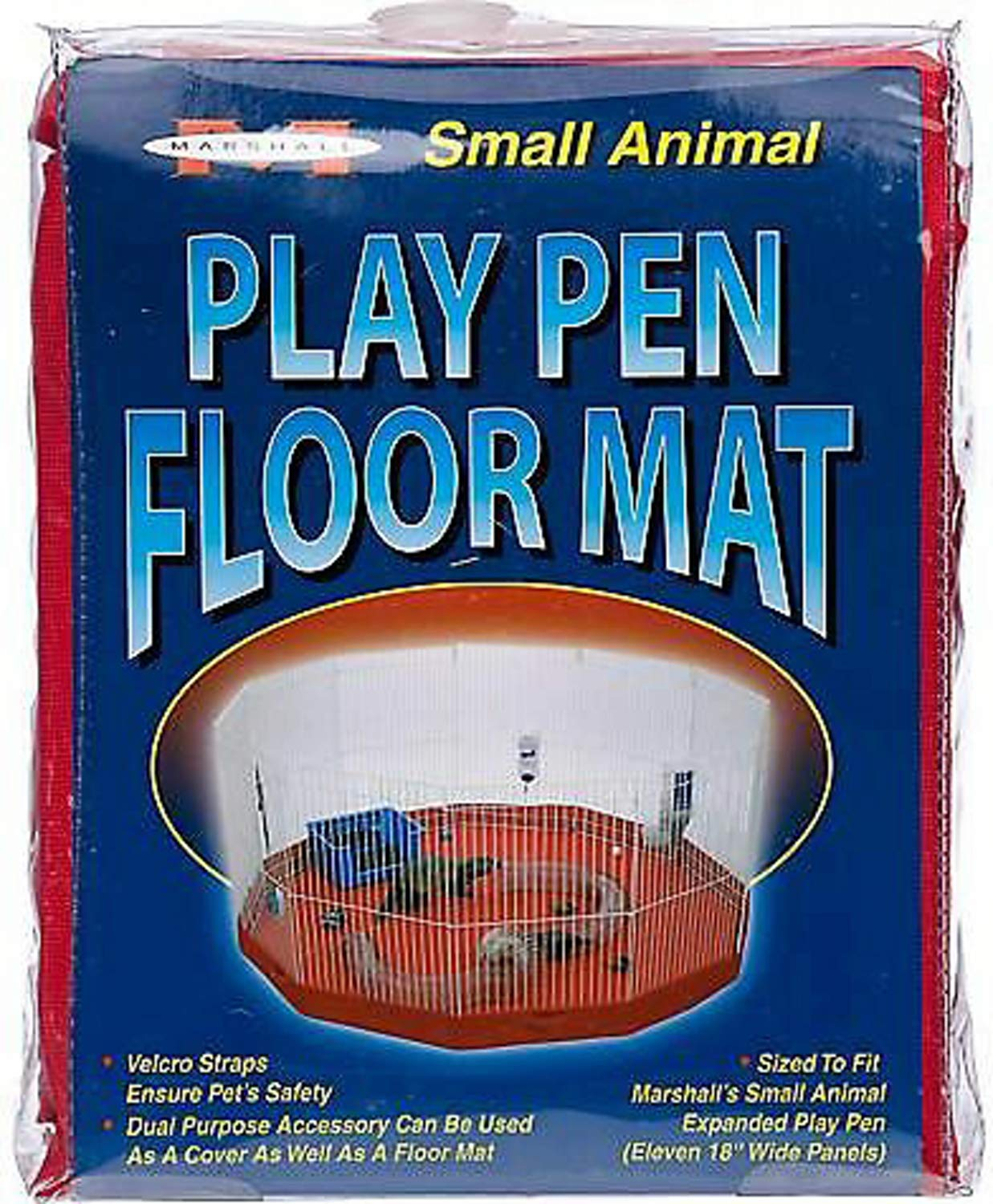 Marshall Mat/Cover for Small Animal Play Pens, Deluxe, 11 Panel, 2 Pack by Marshall