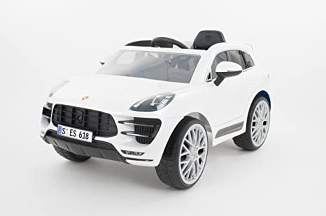 Rollplay 21232 Porsche Macan Turbo SUV 6 V RC, Color Blanco: Amazon.es: Juguetes y juegos