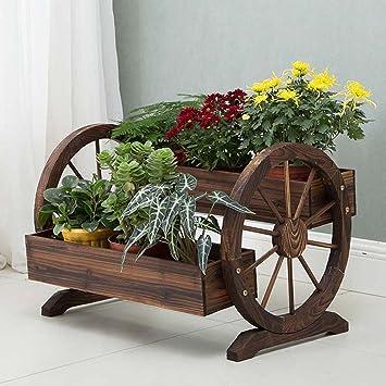 ... de Flores Plantación de Flores Plantación de hortalizas Maceta Balcón Decoración Flotador Soporte de Flores Flotador de Rueda Doble: Amazon.es: Hogar