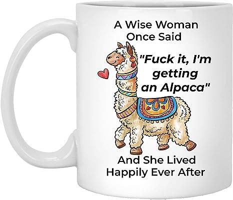 Alpaca Mug Gifts For Women Animal Mom Funny Sarcastic White Alpaca Coffee Cup