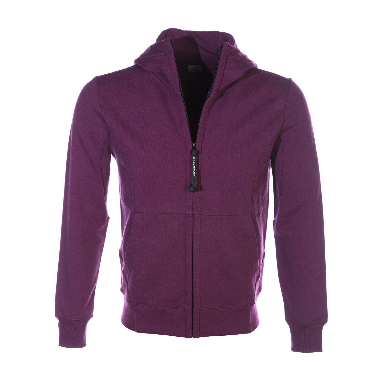 CP Company Full Zip Goggle Hooded Sweat Top in Berry