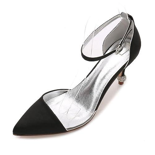 55835b29ed7 Elegant high shoes Women s Shoes Satin Spring Summer Pump Wedding Shoes  Wedding Party   Evening Purple