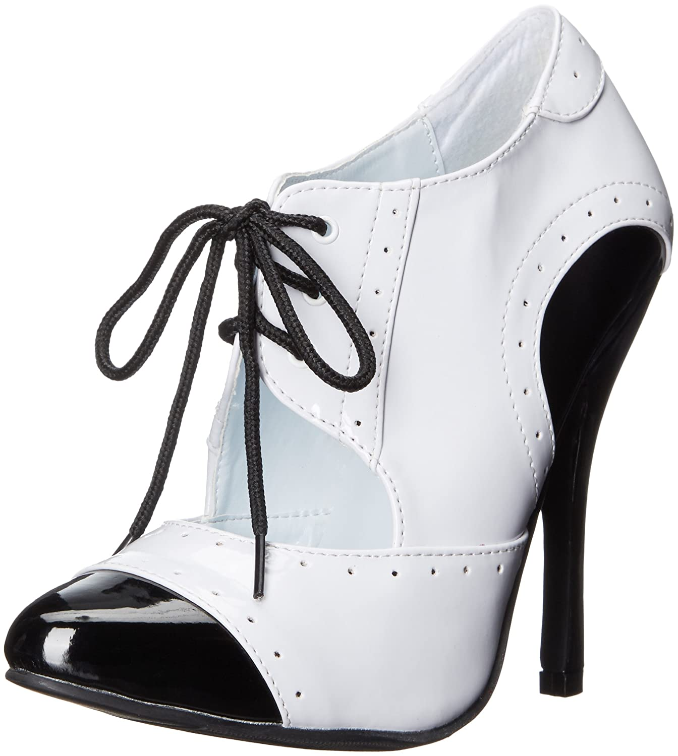 511-GANGSTER in Black & White Ellie Shoes