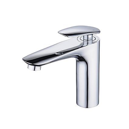 Bathroom Sink Faucet Chrome Single Handle Single Hole Centerset