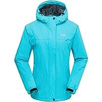 Wantdo Chaqueta de Esquí Cálida para Mujer Chaqueta Forro Polar Capucha Integrada Abrigo de Invierno Chaqueta de…