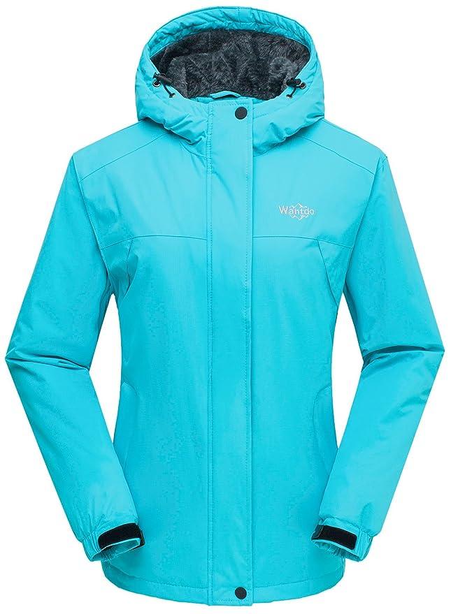 Chaqueta de esquí azul neón barata para mujer