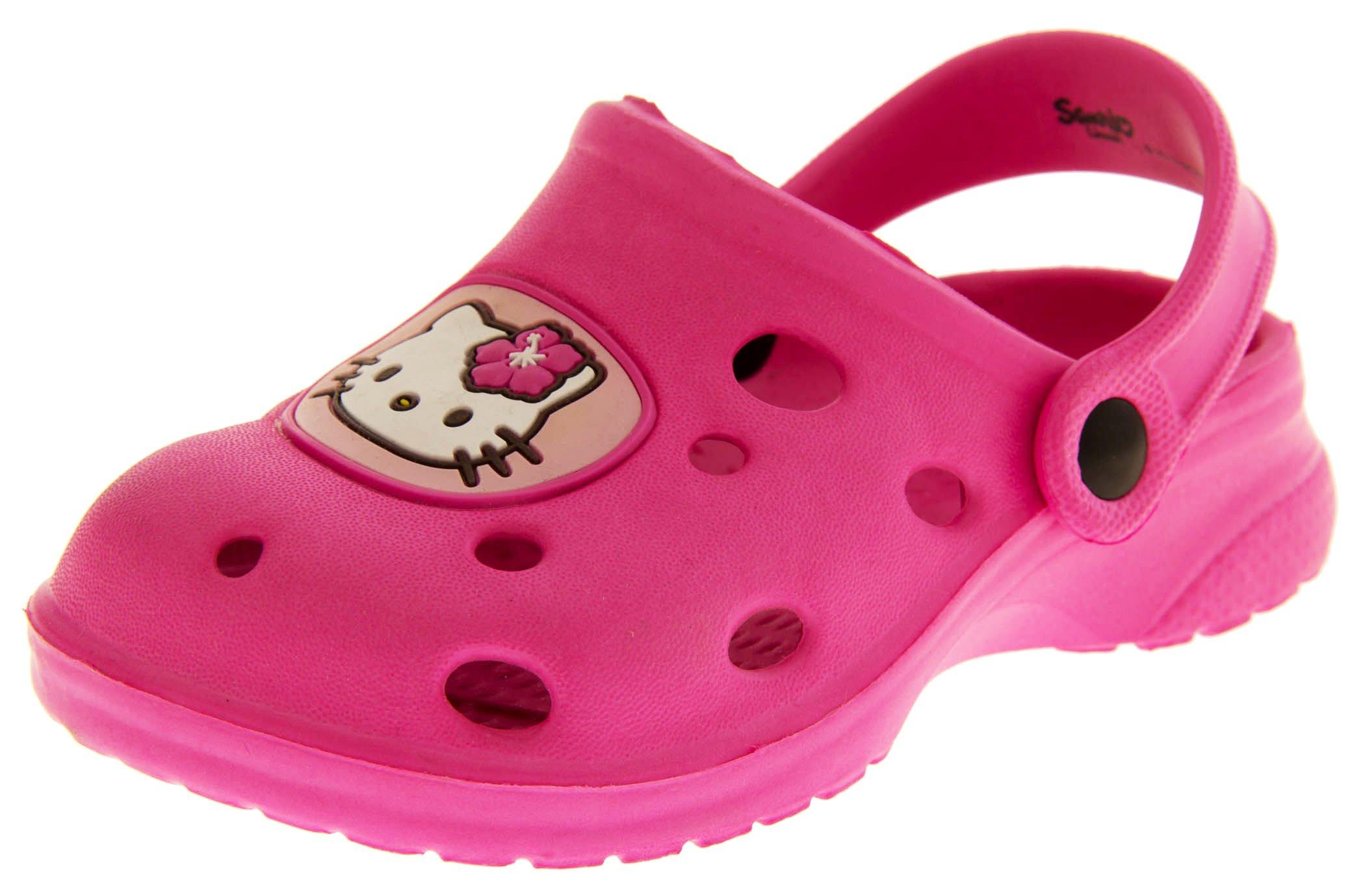 Hello Kitty Girls Hellosabo Pink Beach Clog Mule Sandals US 11 Kids