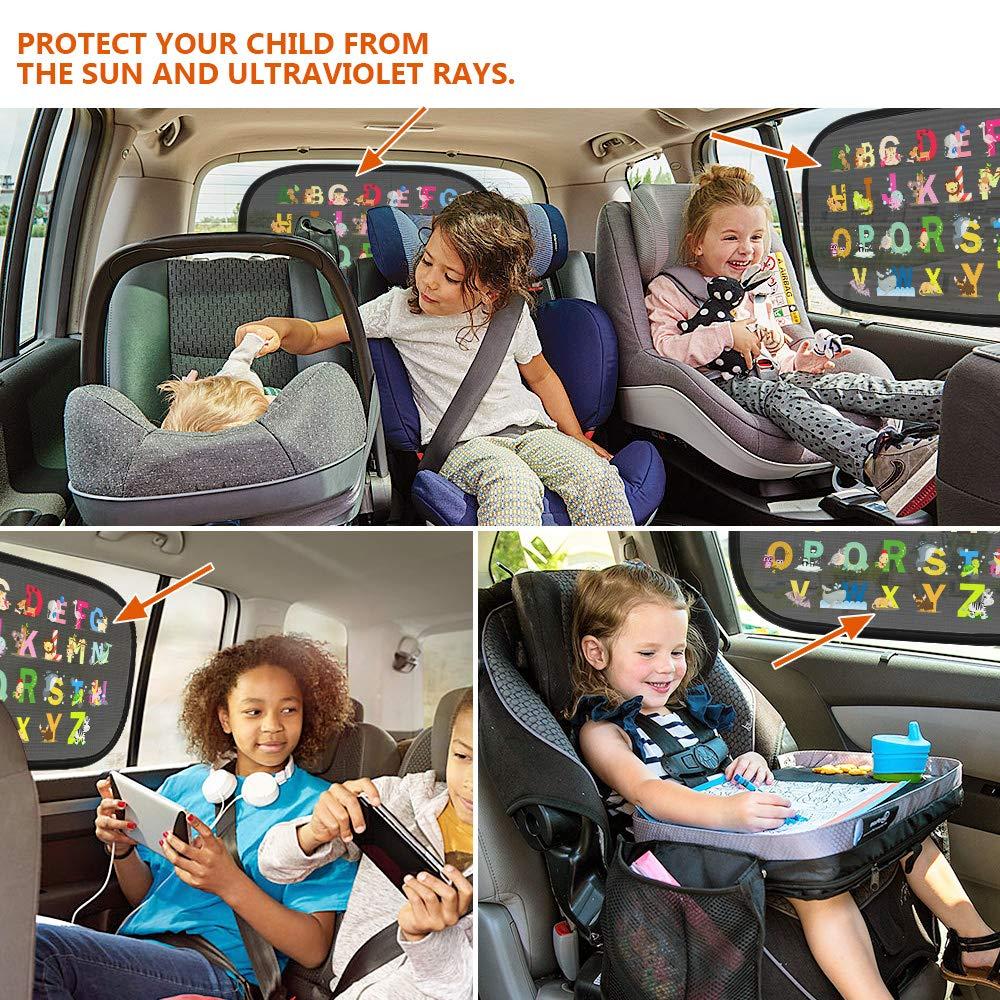 Tendina Parasole Auto Bambini Finestrino Adsorbimento elettrostatico Protezione Solare Auto Parasole Lato Finestra Finestra da Tetto Protegge il Bambino e Animali Domestici Contra i Raggi UV Colore
