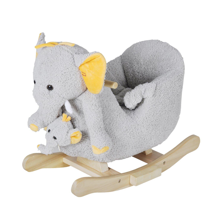 Knorrtoys 40372 - Schaukeltier Elefant Nele mit Sound inkl. Handpuppe knoortoys_40372