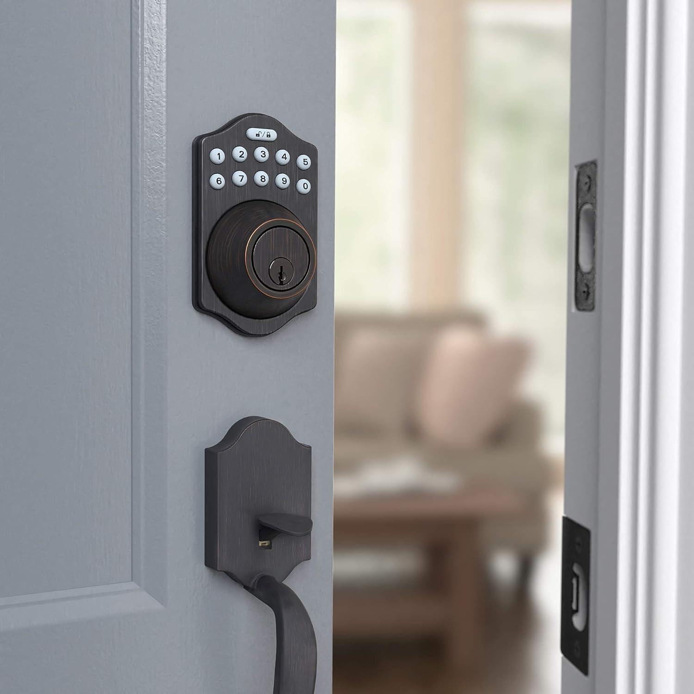 Basic keypad deadbolt - smart lock with passcode for cheap