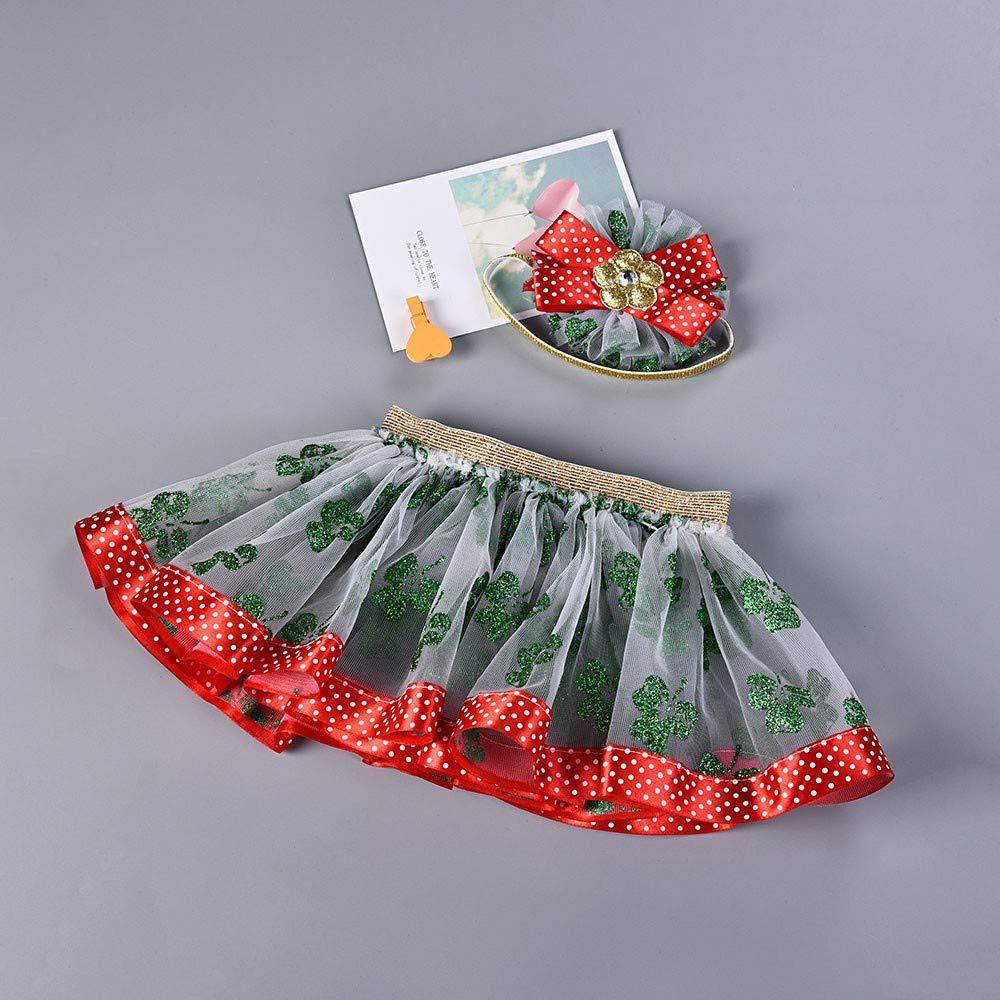 ZOMUSAR Newborn Baby Girls Kids Christmas Tutu Ballet Skirts Fancy Party Skirt Hair Hoop Set