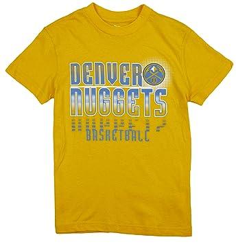 Outerstuff Denver Nuggets NBA Enfants Jeunes T-Shirt à Manches Courtes, Homme, Or