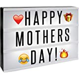 A4 Cinematic Lightbox | Includes 205 Letters & Emoji | Illuminated Light Up Box Sign | Battery or USB Powered | Perfect Decorative Gift | M&W