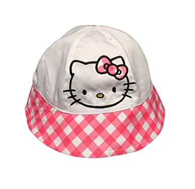 55b5e58b24158 Amazon.com  Hello Kitty Little Girls Toddler Sun Bucket Hat