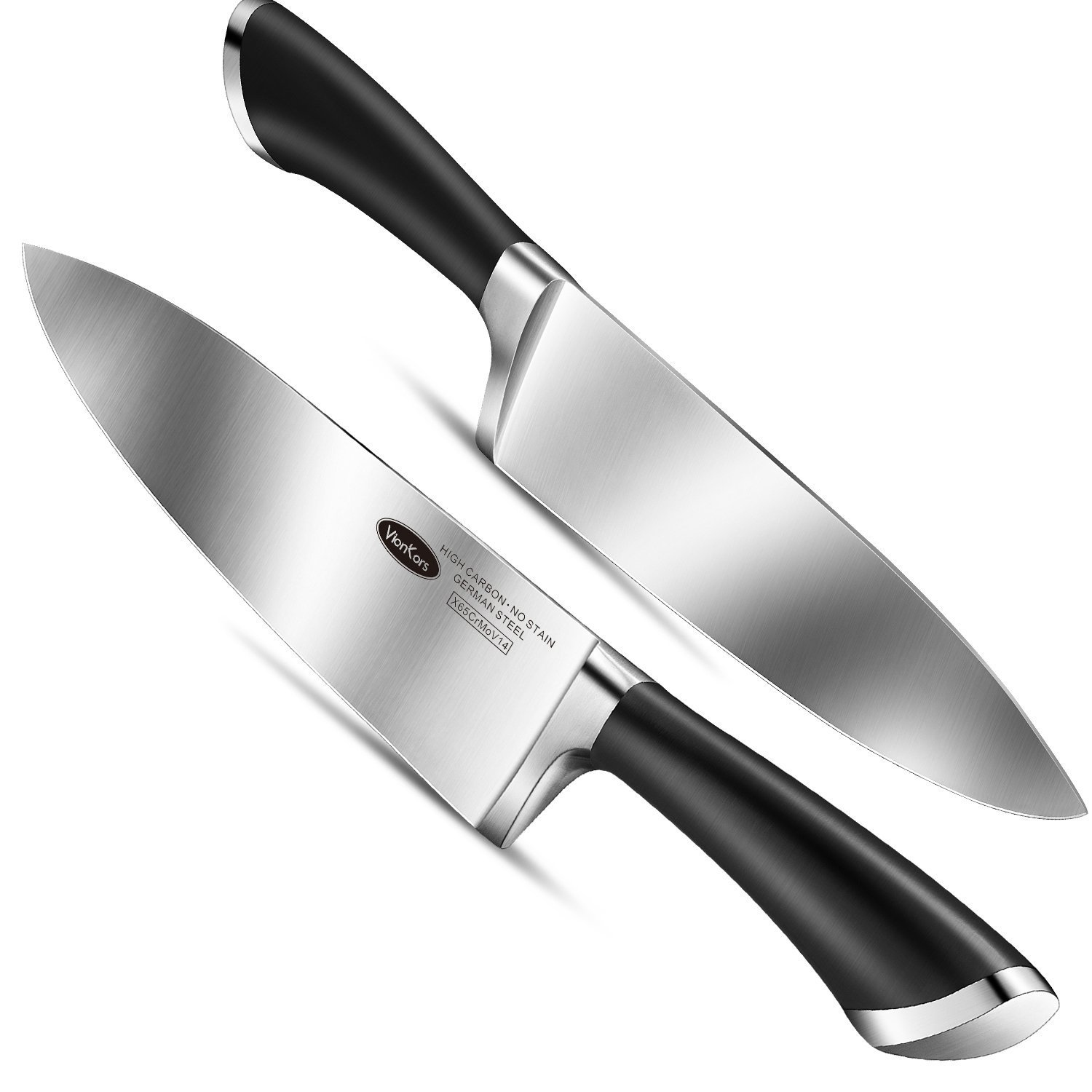 Kitchen Knife 8 inches Chef Knife - VIANKORS pro German stainless steel sharp knives, Highly Recommended,Razor Sharp, Ergonomic handle, For home & restaurant by Viankors (Image #2)