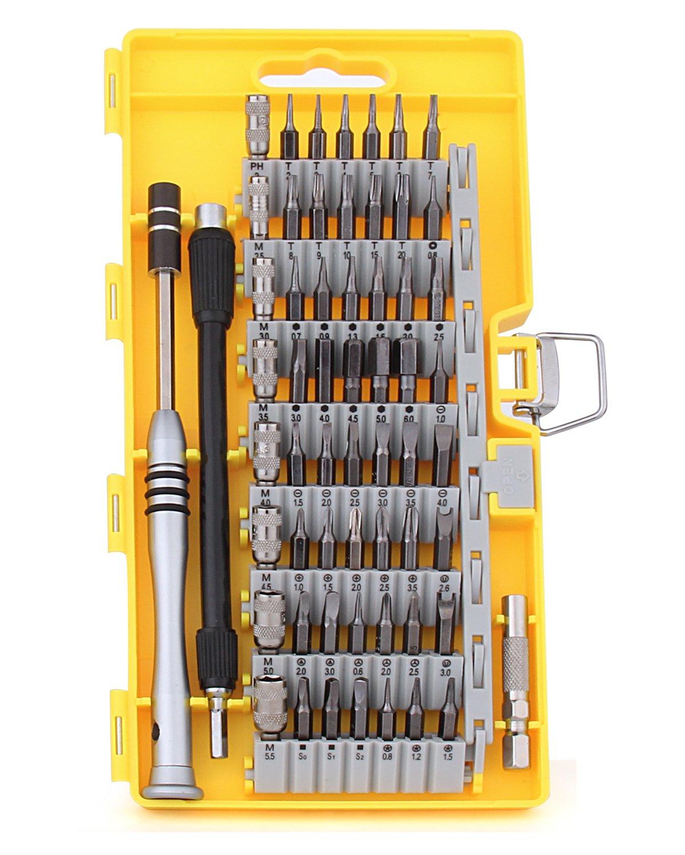 Hltd 60 en 1 destornillador de precisió n con 56 bits Driver magné tico Kit, S2 de precisió n de acero destornillador Kit de herramientas de reparació n para iPhone, Smartphones, Tablet, PC, Macbook, Xbox, Celular Hltd784