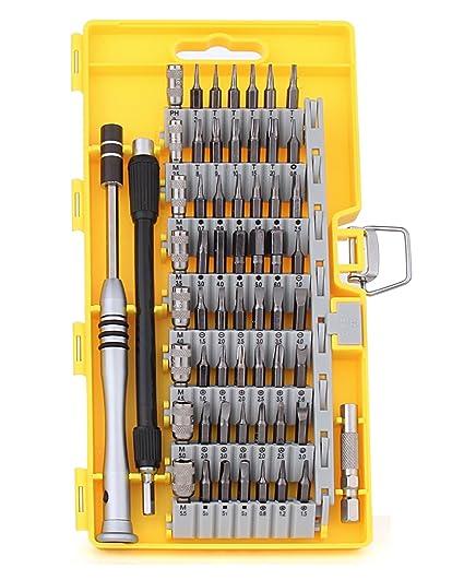 Hltd 60 en 1 destornillador de precisión con 56 bits Driver magnético Kit,precisión de acero destornillador Kit de herramientas de reparación para ...