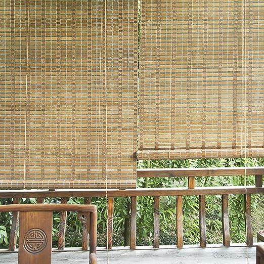 FF persianas enrollables para Exteriores con Accesorios, Sombras de Sol Exteriores/Superiores para pérgola Porche Patio Trasero, Ancho 80/100/120/140 cm, tamaño Personalizado: Amazon.es: Hogar