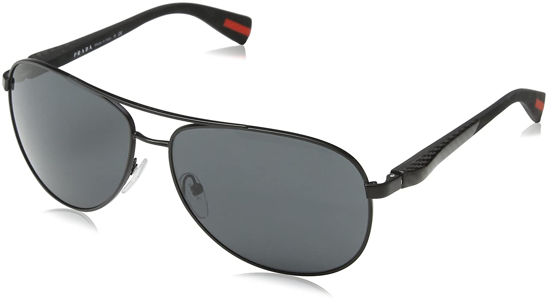 3f5678ea6ed Amazon.com  PRADA Sunglasses SPS 51O MATTE BLACK 1BO-1A1 SPS51O  PRADA   Clothing