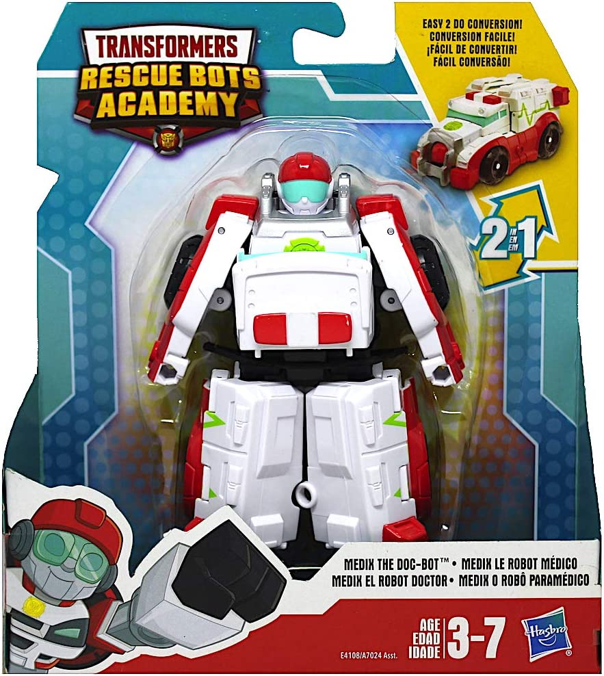 "Transformers Rescue Bots Academy Medix The Doc-Bot 4.5/"" Converting Action Figure"