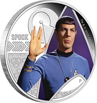 Spock Give The Vulcan Salute Star Trek Series Silber Münze 1 Tuvalu