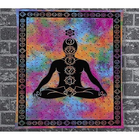 Tempelwelt - Tapiz psicodélico para yoga o meditación ...