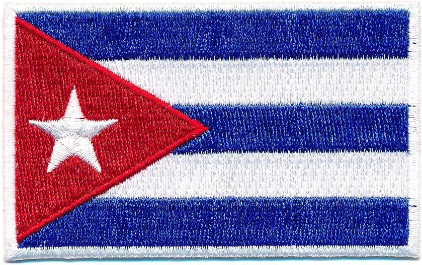 Hegibaer 40 X 25 Mm Kuba Flagge Karibik Havanna Cuba Flag Patch Aufnäher Aufbügler 0656 A Auto