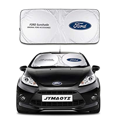 JYMAOYI for Ford Sunshade Windshield Visor Cover Car Window Sun Shade UV Protect Car Window Film for Ford Escort Kuga Territory: Automotive