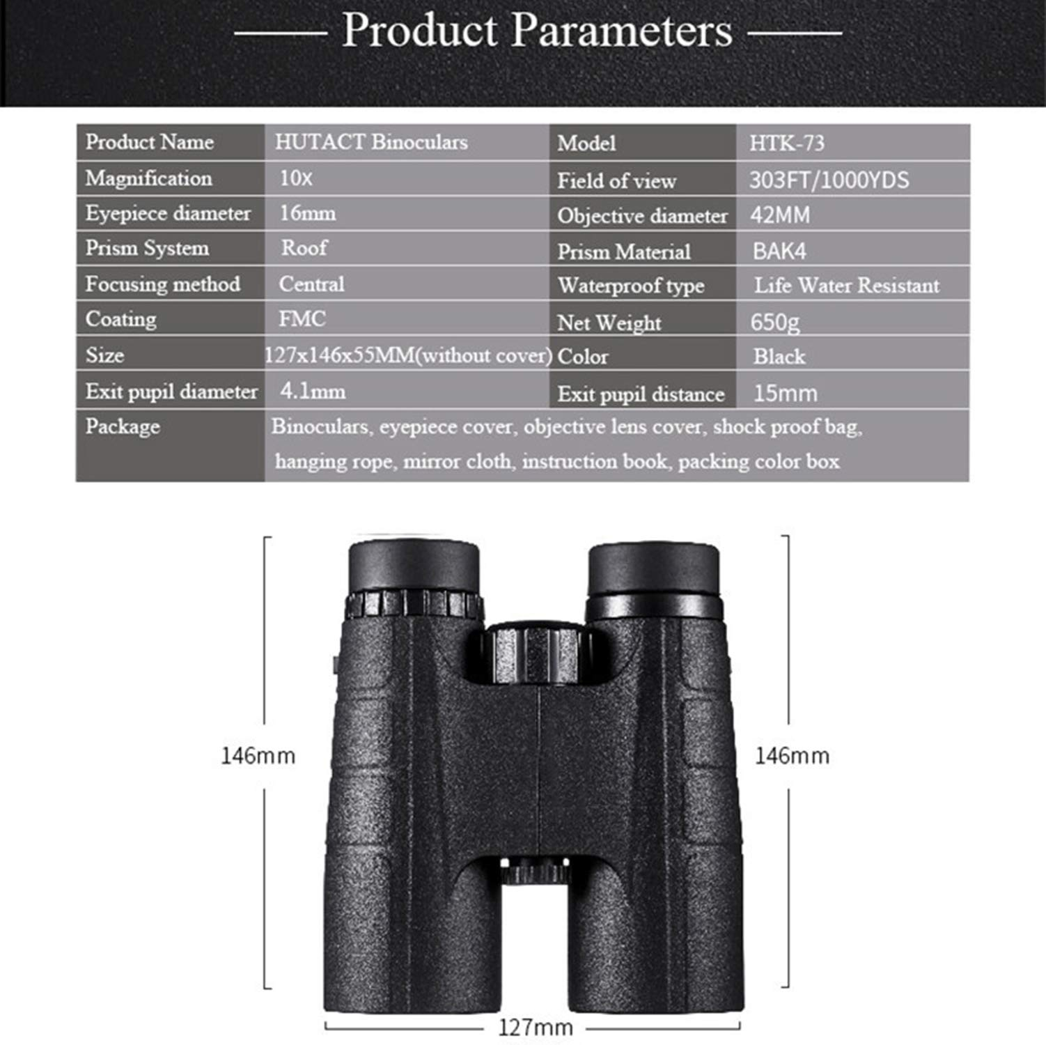 LNYF-OV Binoculars HD Waterproof Compact,Best Choice for Travelling, Hunting, Hiking, Outdoor,Sports and Wildlife by LNYF-OV