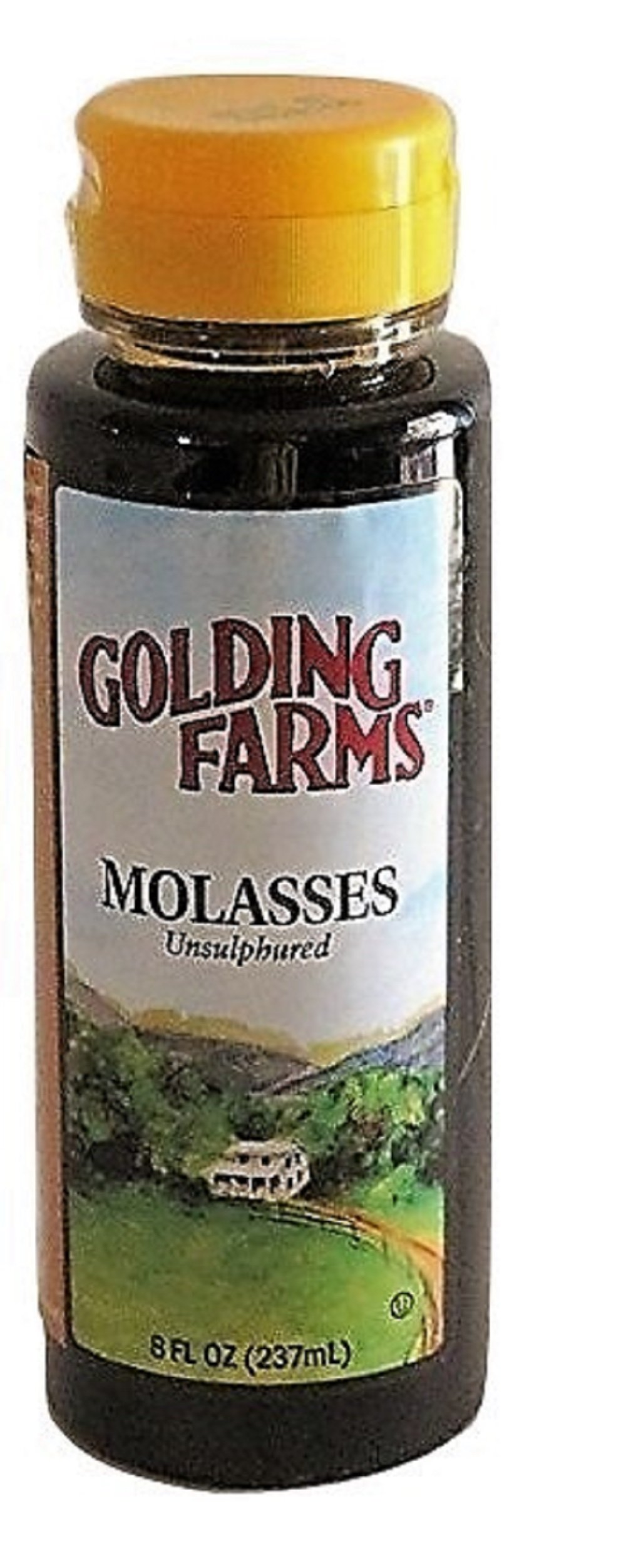 Golding Farms All Natural Unsulphured Molasses 8 oz. (237ml)