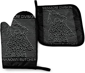 SDFDFGD Texas Chainsaw Massacre Division Joy Division -Oven Mitts and Pot Holders Heat Resistant Kitchen Bake Gloves Cooking Gloves