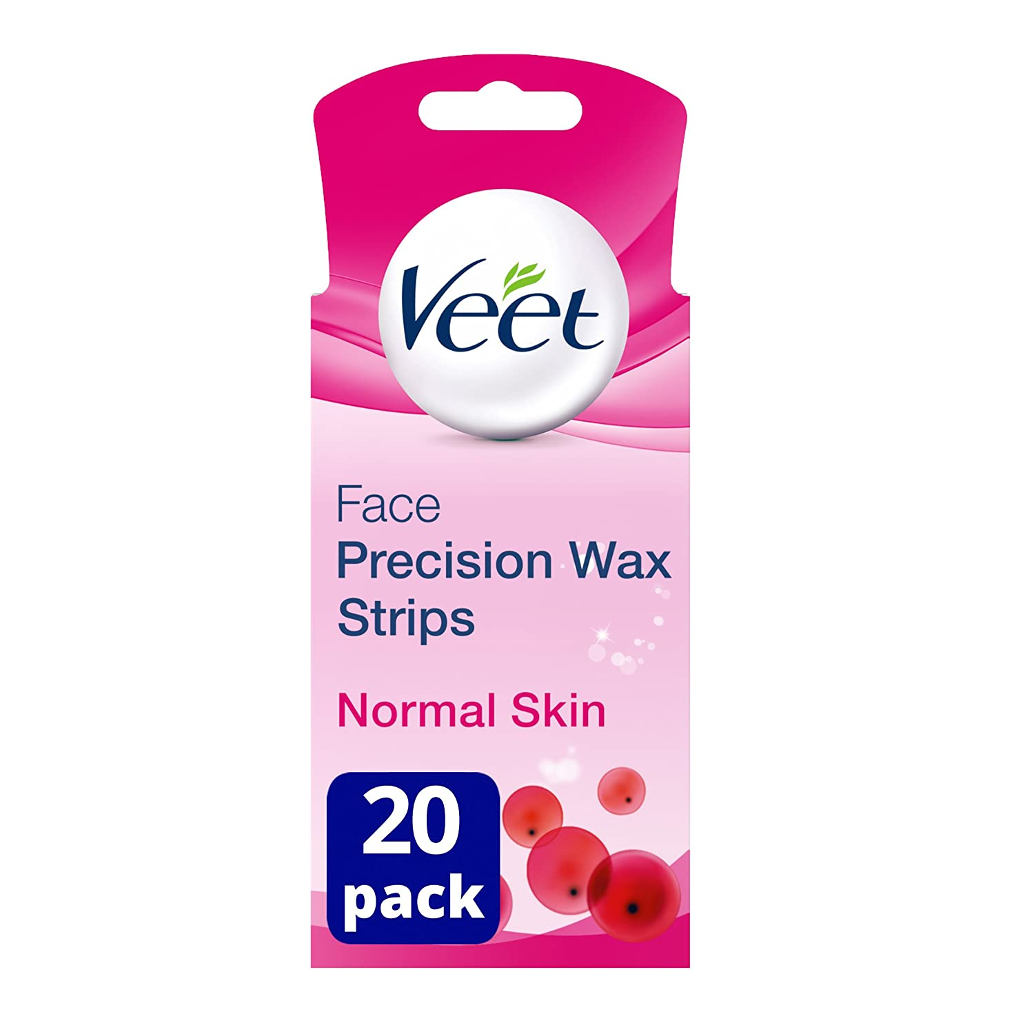 Veet EasyGrip Ready to Use 20 Wax Strips and 4 Perfect Finish Wipes for Face HealthCentre 2388130