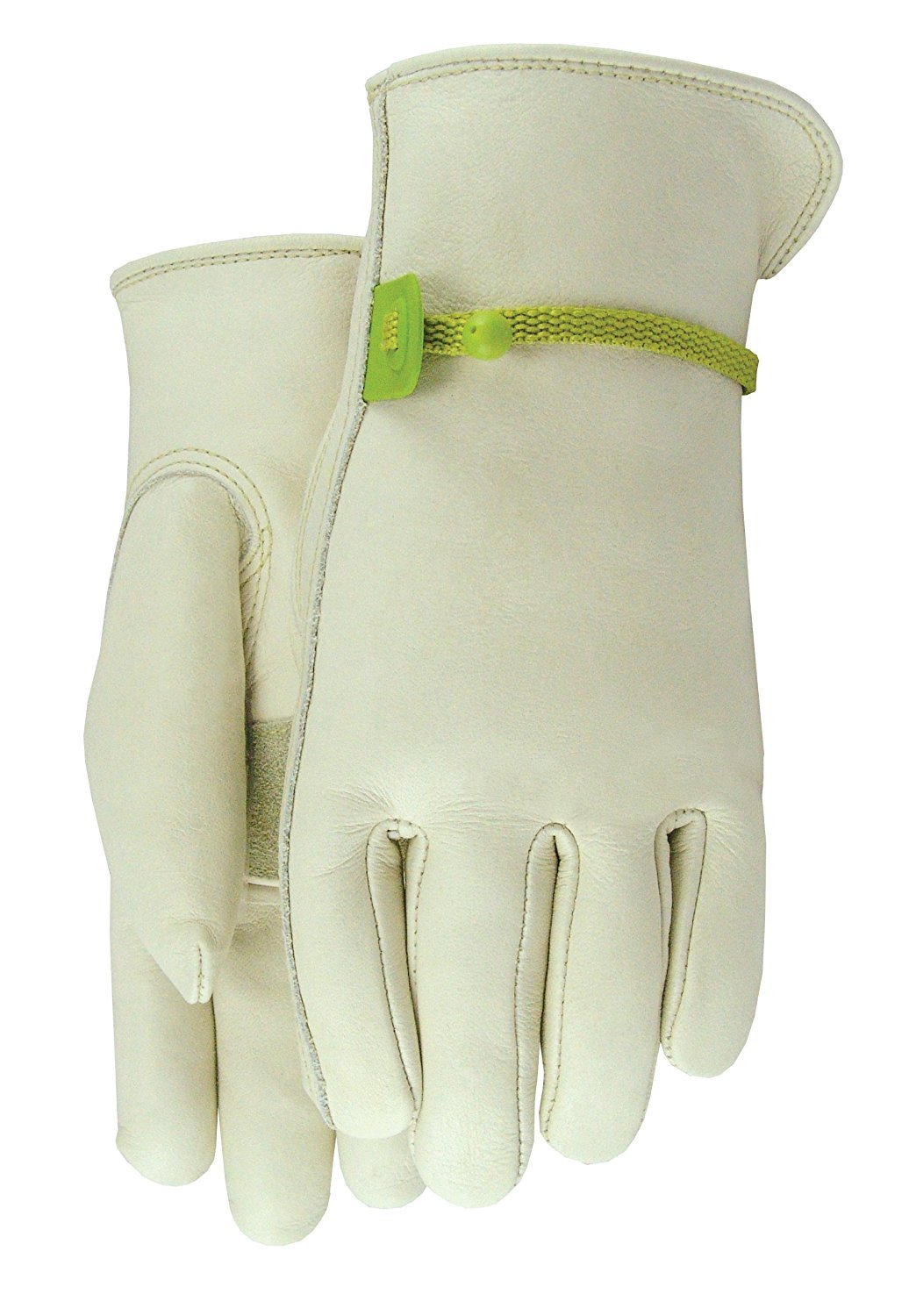 Meanch Cowhide Leather Garden Gloves with Ball and Tape Cinch at Wrist