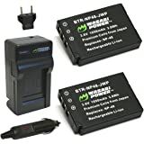 Wasabi Power Battery (2-Pack) and Charger for Fujifilm NP-48 and Fuji XQ1