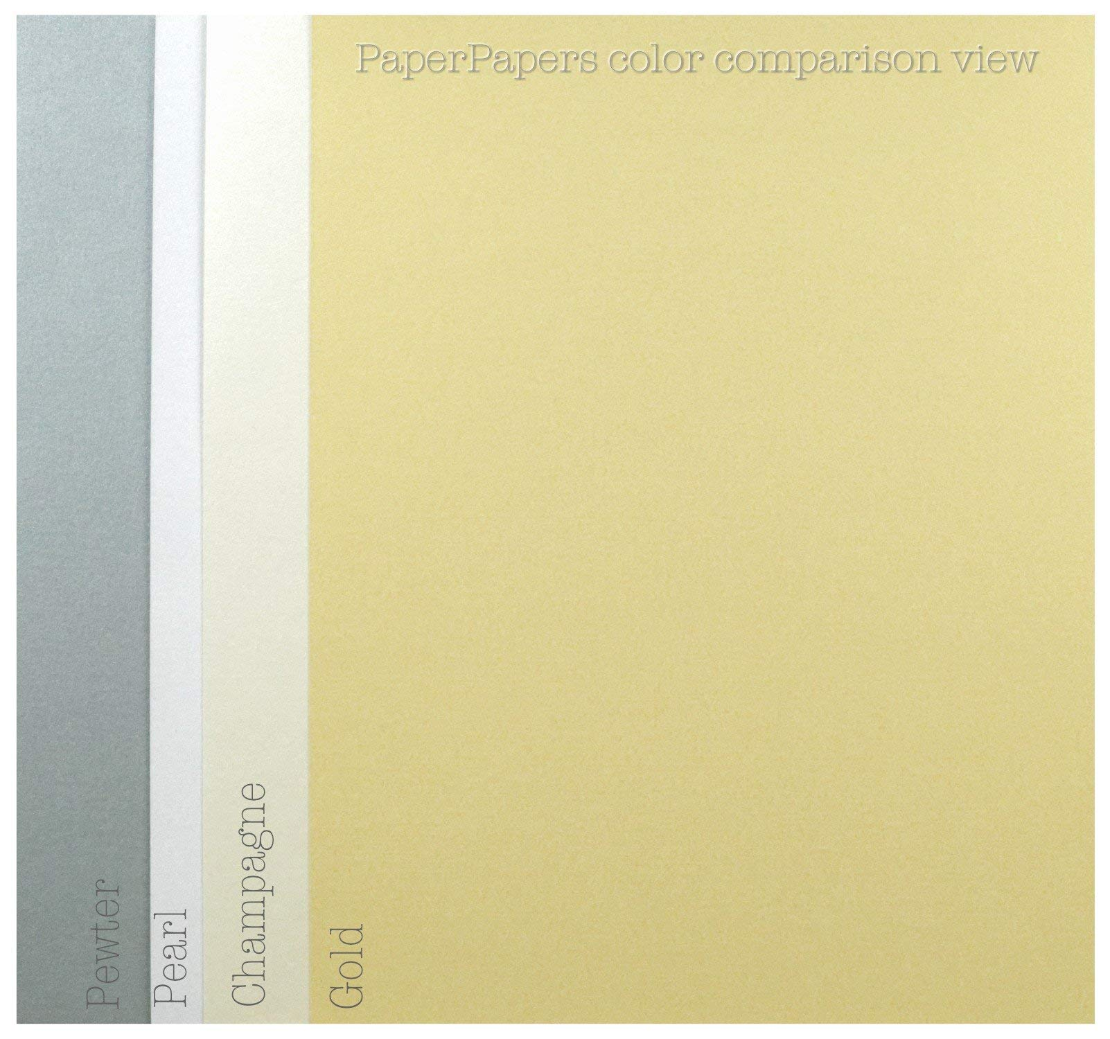Shimmer Off-White Champagne 8-1/2-x-11 32T Lightweight Multi-use Paper 200-pk - PaperPapers 2pBasics 118 GSM (32/80lb Text) Letter Size Everyday Metallic Paper for Professionals, Designers and DIY by 2pBasics