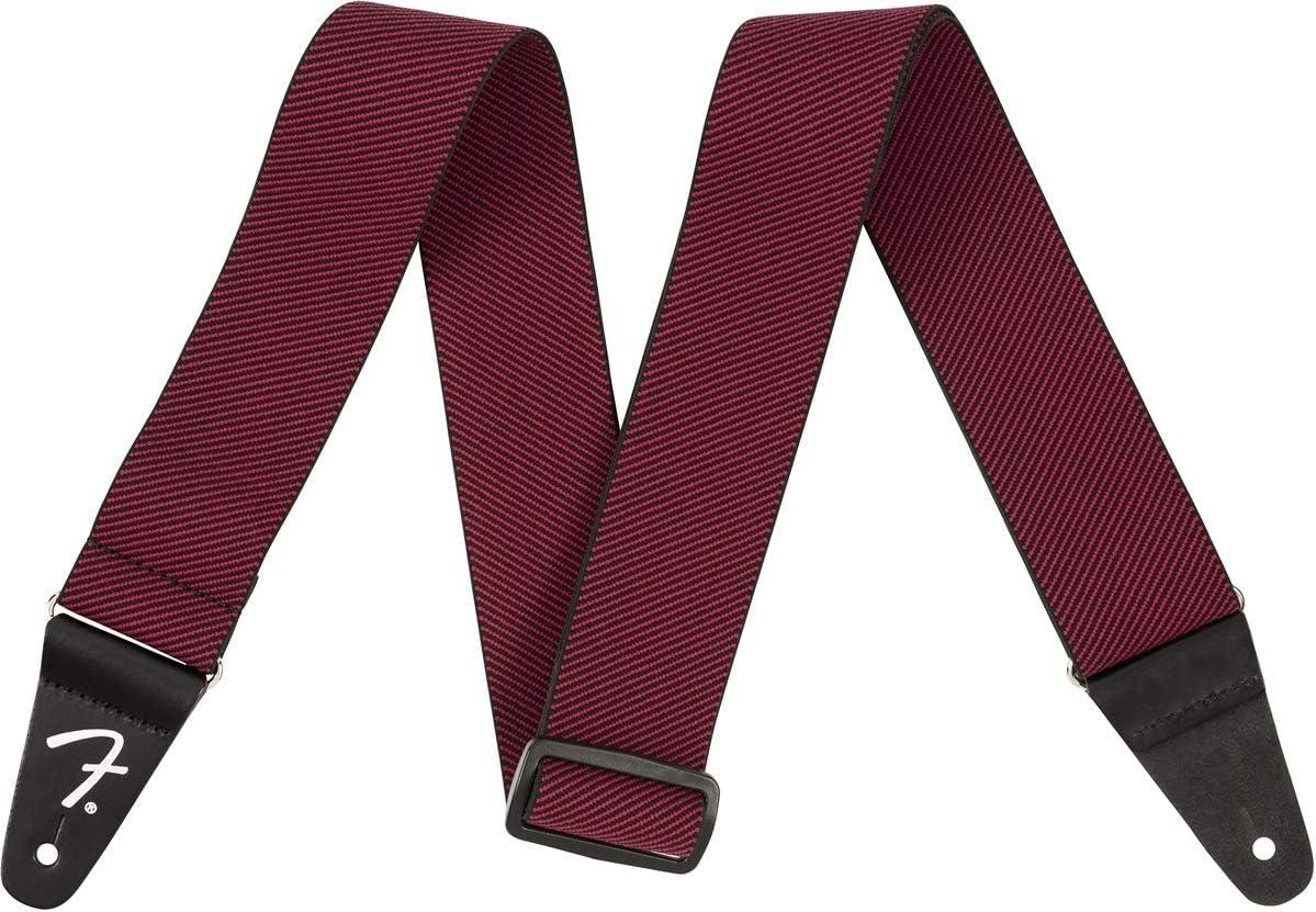 Red Tweed Fender/Weighless Guitar Strap