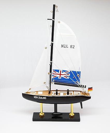 NEW ZELAND barco modelismo 33X20 madera sailing maqueta ...