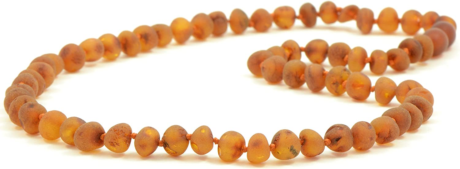 17.7 inches , Cherry 45 cm AmberJewelry Amber Necklace for Adults Made from Genuine Baltic Amber Beads
