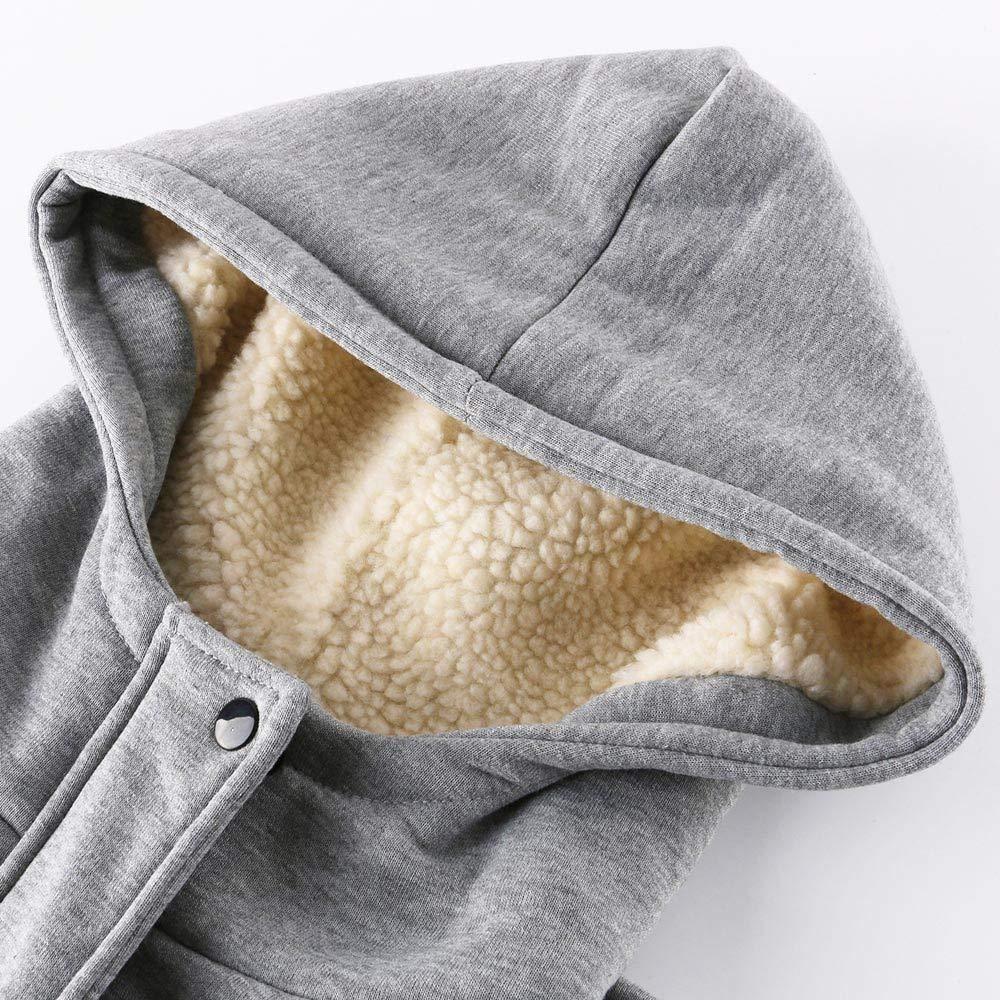 SOLELING Donna Warm Cappotti Casual Giacche di Tasche Reali in Hoodie Cappotto con Cappuccio Invernale Parka Elegante Maniche Lunghe Cardigan Autunno e Inverno Giacca con Cappuccio