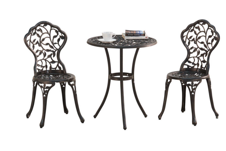 0299c1f2710e Amazon.com: Sunjoy L-BS864SAL Best Choice Products Cast Aluminum Patio  Furniture Set Bistro, Black: Garden & Outdoor