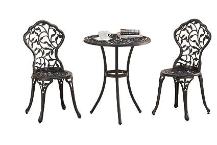 Sunjoy Best Choice Products Cast Aluminum Patio Bistro Furniture Set