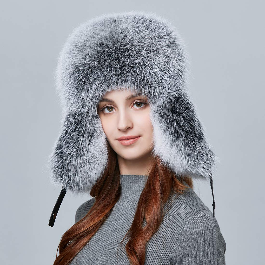 bf5c652a533 Befur winter men real fox fur hat genuine leather russia aviator jpg  1100x1100 Winter bomber hats