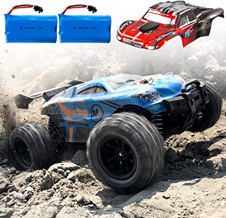 BeeBean RC Cars, High-Speed Waterproof Remote Control Car for Adults Kids,1:16 Scales 35+ kmh 4WD 2.4Ghz Off-Road Monster Truck Toy, All Terrain Electric Vehicle Boy Gift with 2 Batteries