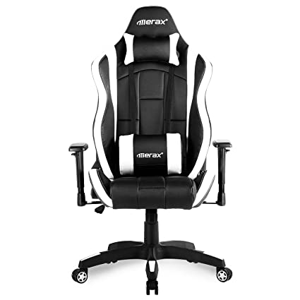 Merax silla de Juegos de espalda alta silla de escritorio diseño ergonómico ordenador silla