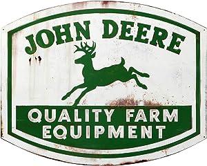 John Deere Quality Farm Equipment High Gloss Die Cut Metal Sign
