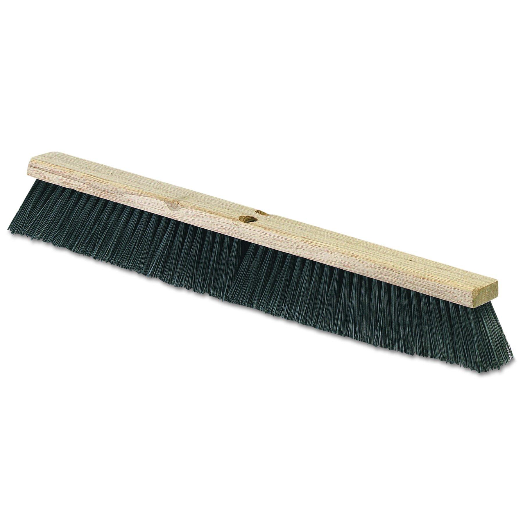 Carlisle 4507403 Fine/Medium Floor Sweeps, Black, 36'' x 3'', Polypropylene